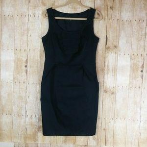 Ann Taylor Black Sleeveless Sheath Dress Size 10